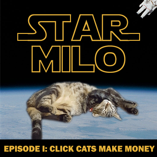 Cover photo of the Star Milo cat clicker game